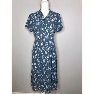 L.L. Bean Floral Shirt Dress